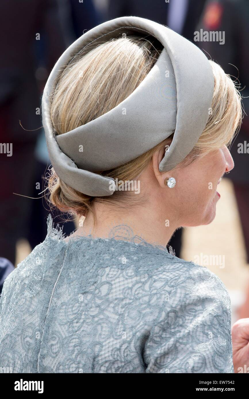 Queen Maxima during the official celebration as part of the bicentennial celebrations for the Battle of Waterloo, - Stock Image