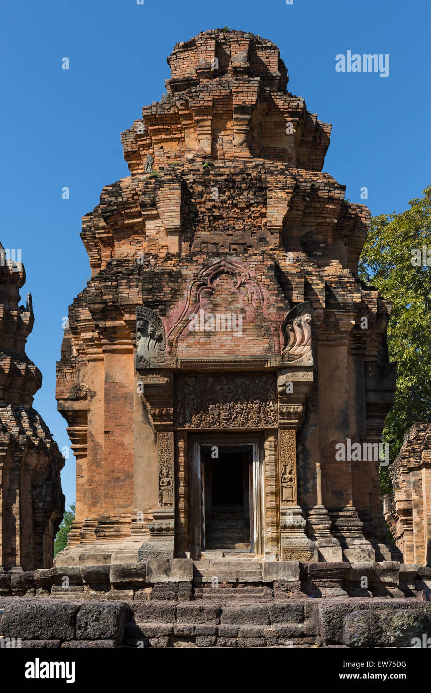 Prang of Prasat Sikhoraphum, Prasat Ra Ngaeng, Khmer temple, Surin, Surin Province, Isaan, Isaan, Thailand - Stock Image