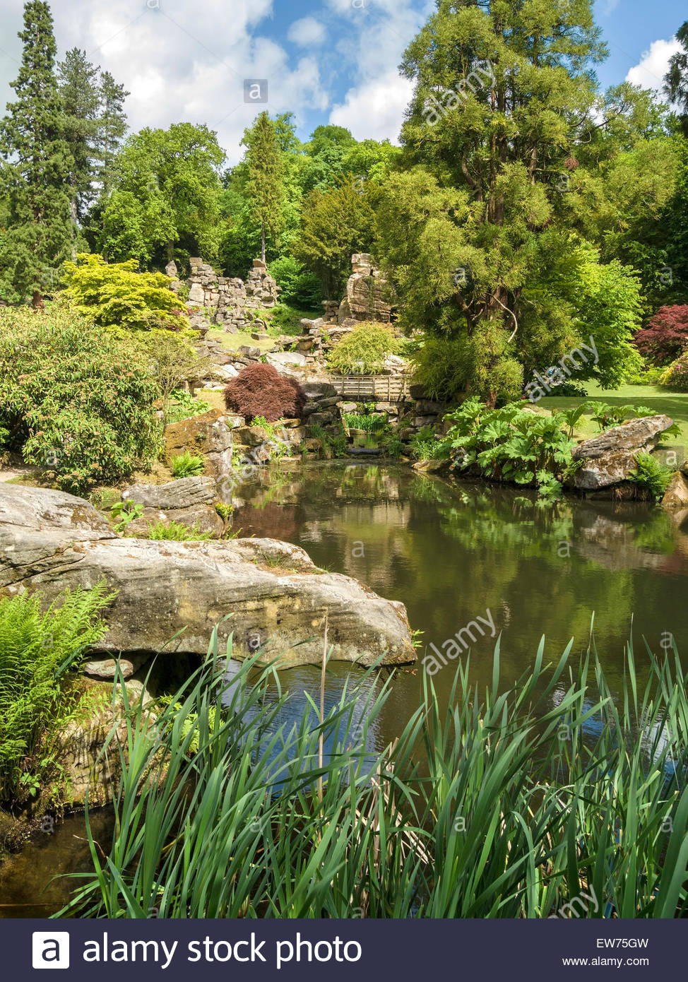 Paxton's Rock Garden, Chatsworth, Derbyshire, England, UK. - Stock Image