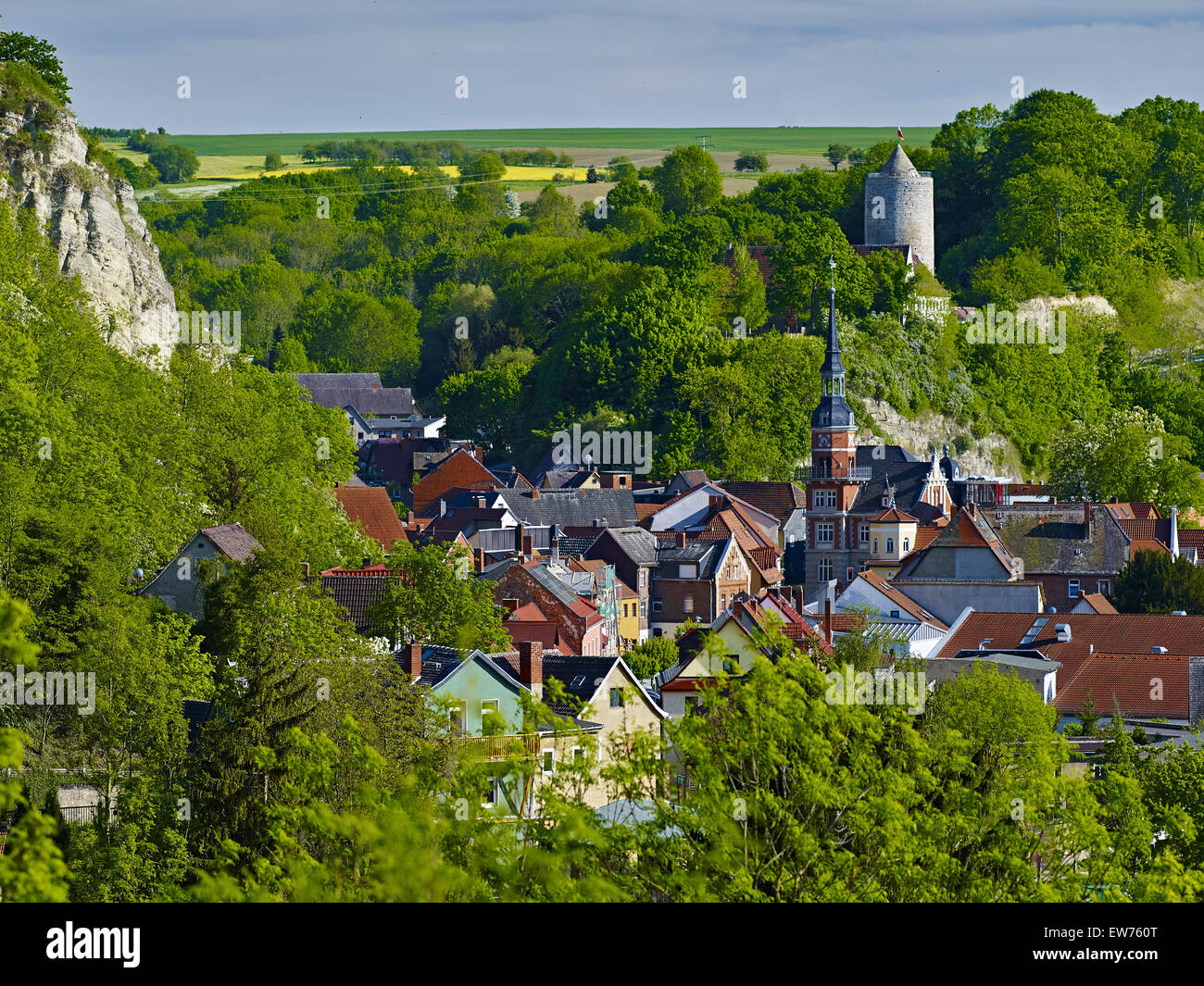 View over Camburg, Thuringia, Germany - Stock Image