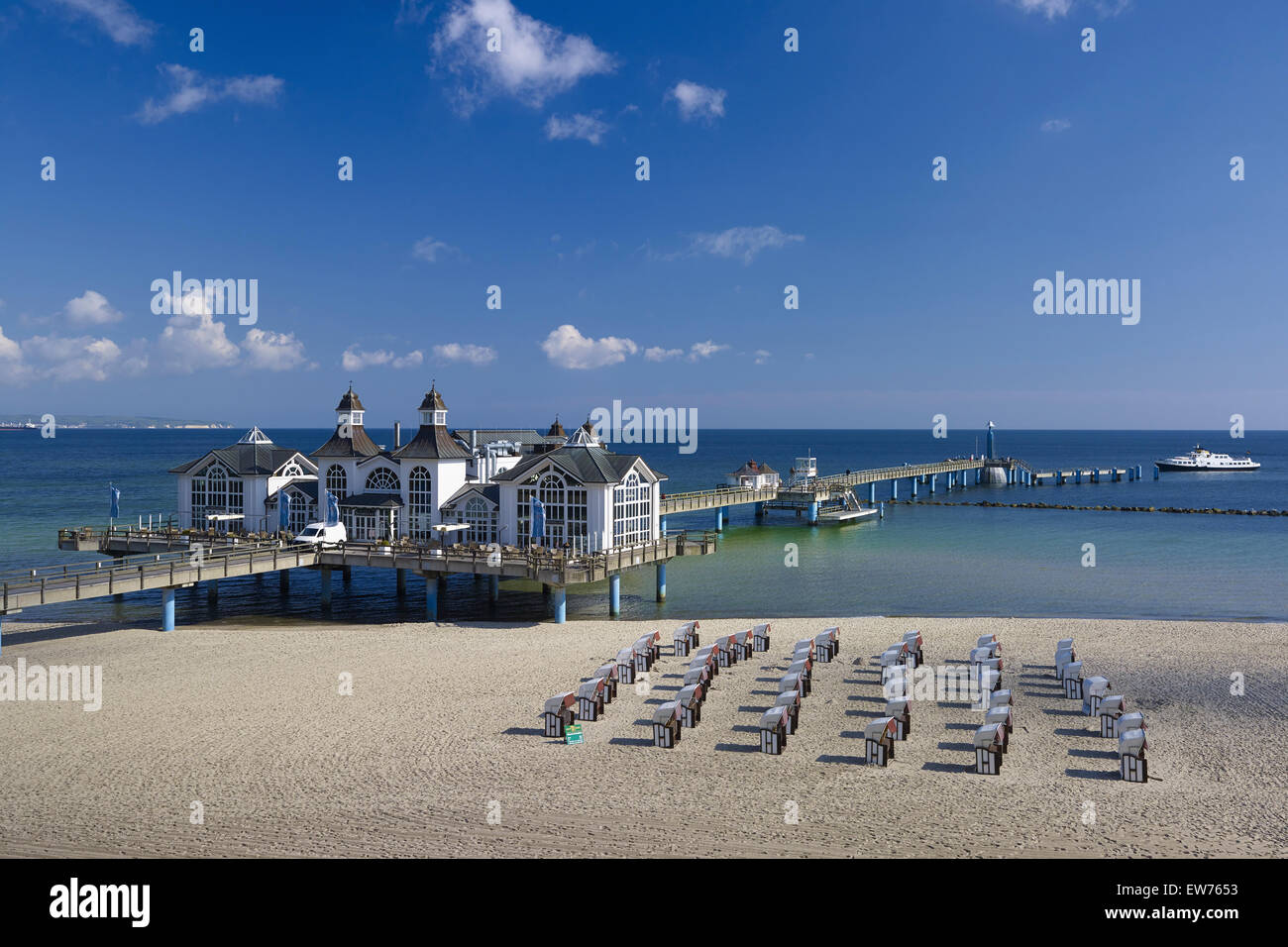Sellin Pier, Rügen, Germany Stock Photo