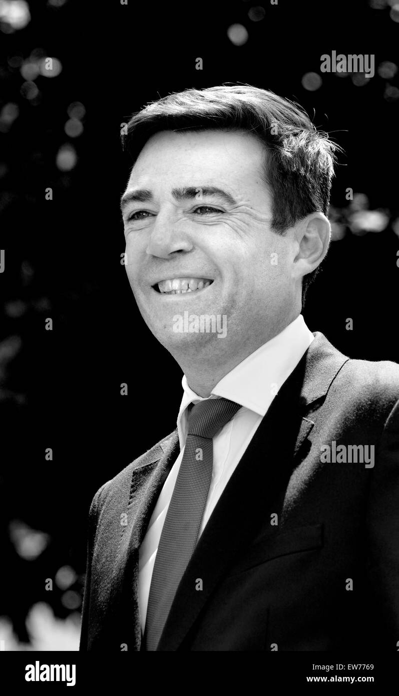Andy Burnham MP, (Labour) for Leigh since 2001 and candidate for party leader (June 2015) - Stock Image