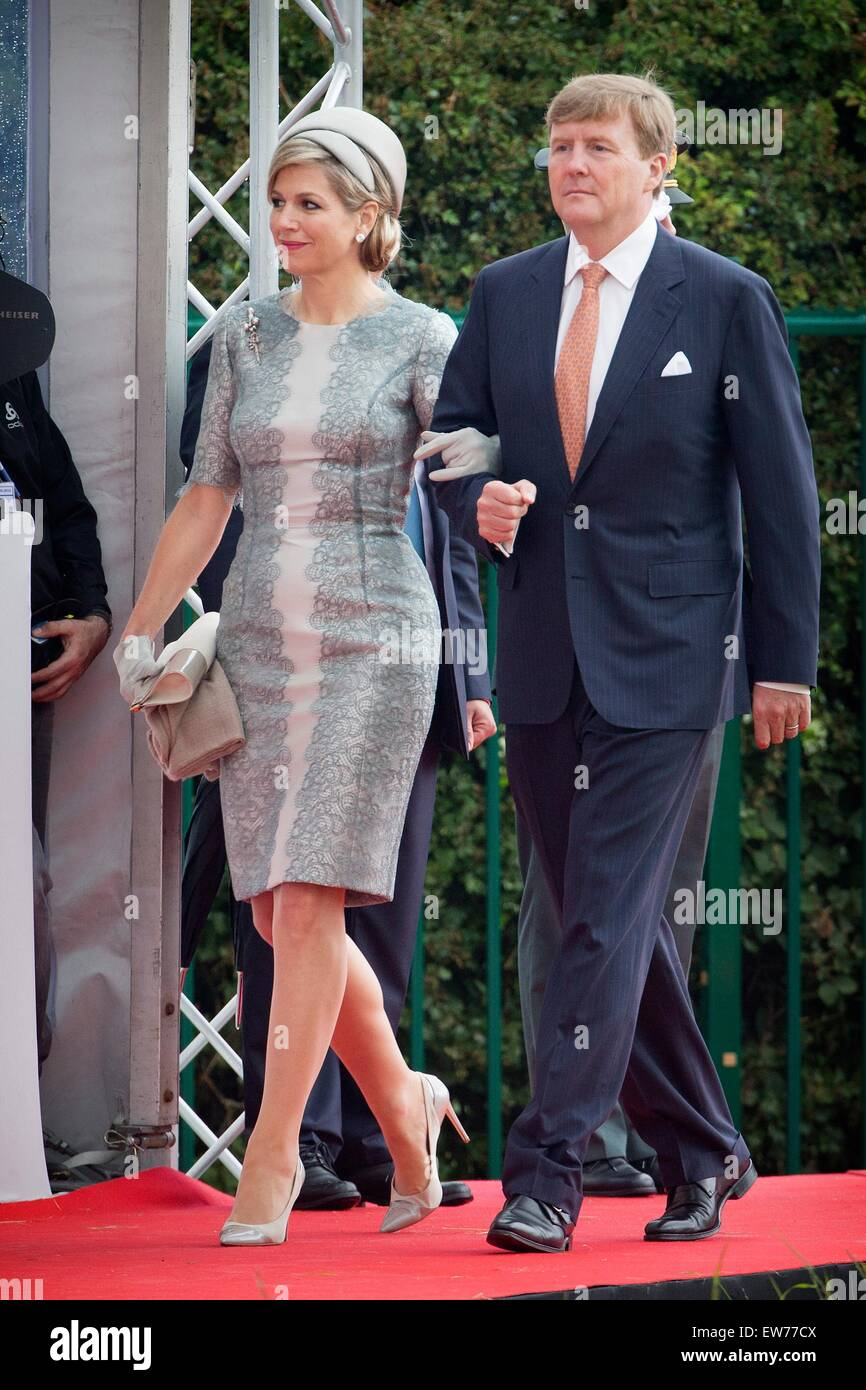 King Willem-Alexander and Queen Maxima during the official celebration as part of the bicentennial celebrations - Stock Image