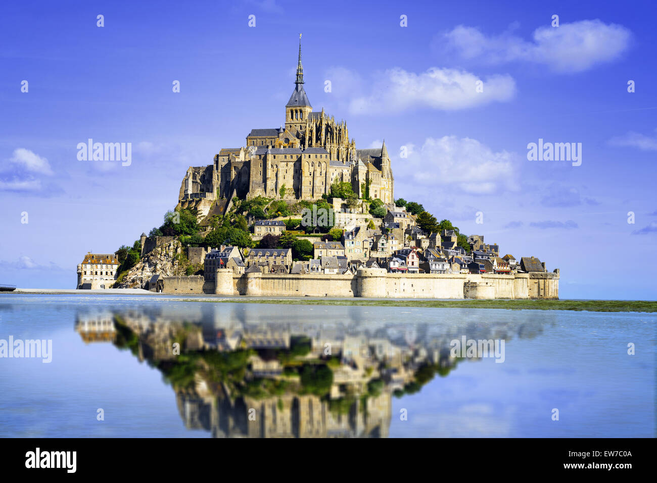 Mont saint Michel - Normandy - France - Stock Image