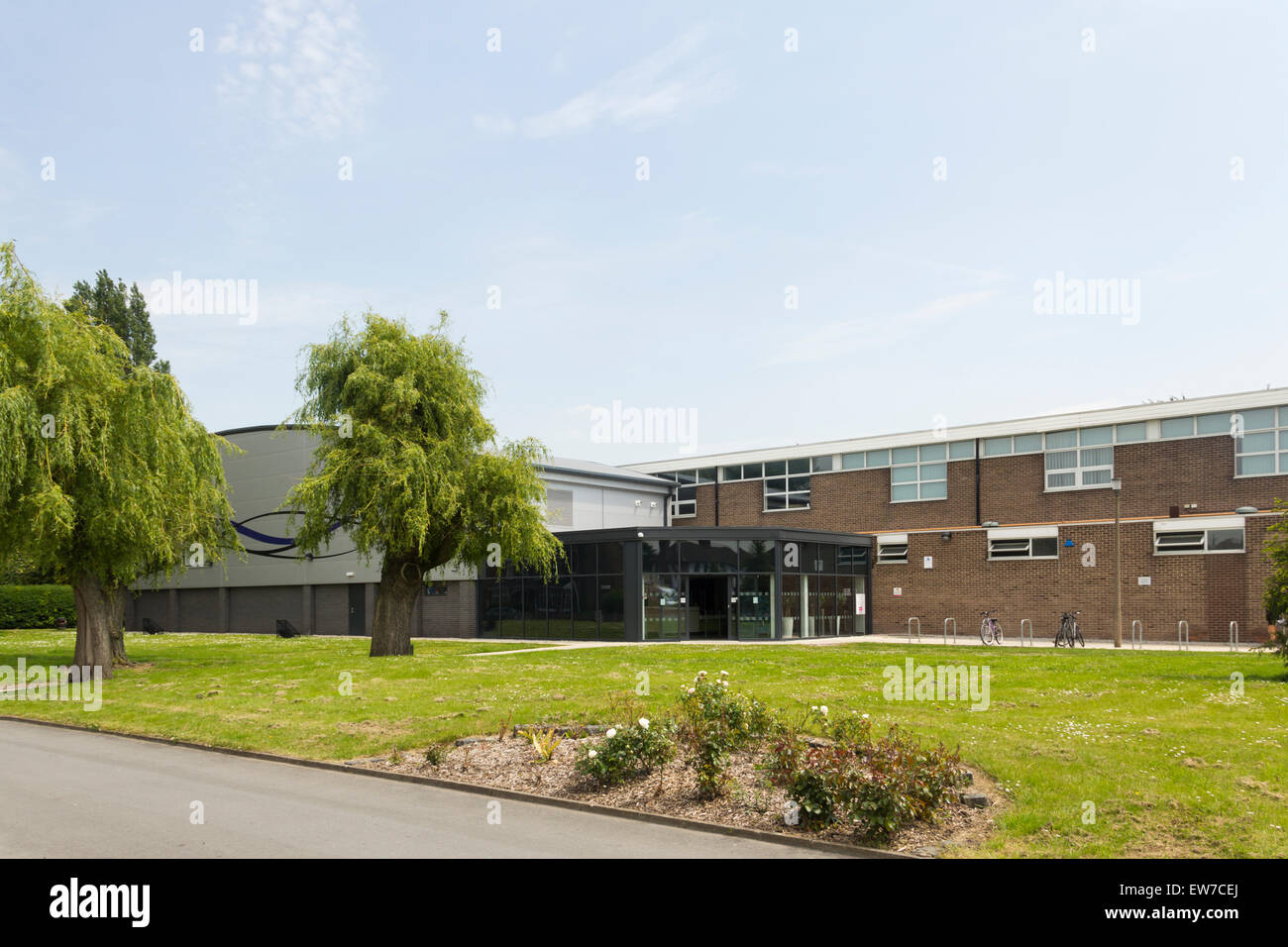 Irlam and Cadishead leisure centre, in  the borough of Salford. The centre, built in 1965, was extensively refurbished - Stock Image