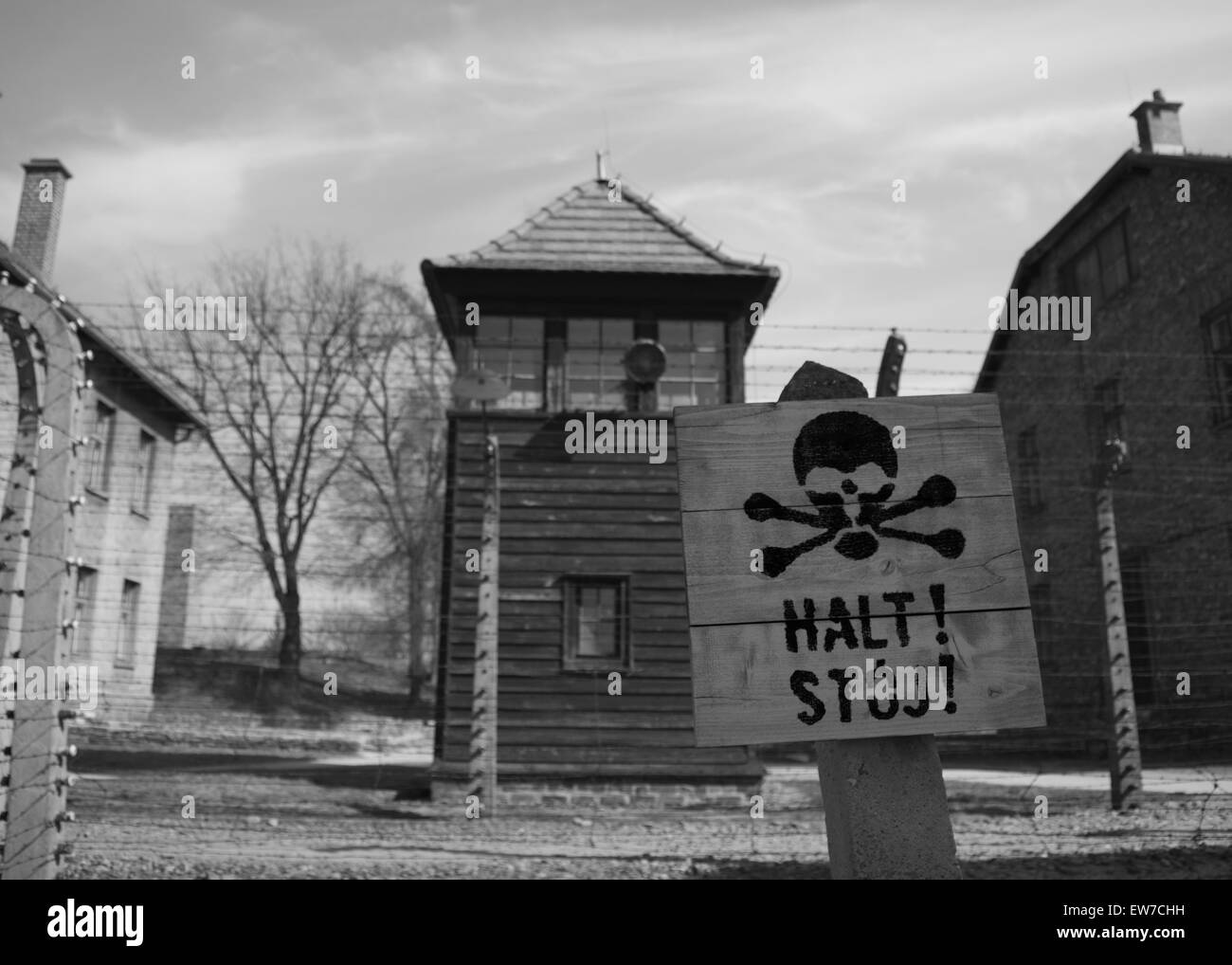 Auschwitz Birkenhau Atrocities Stock Photo