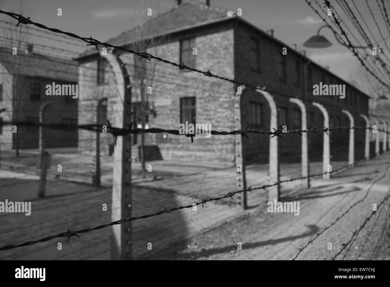 Auschwitz Birkenhau Atrocities Stock Photo