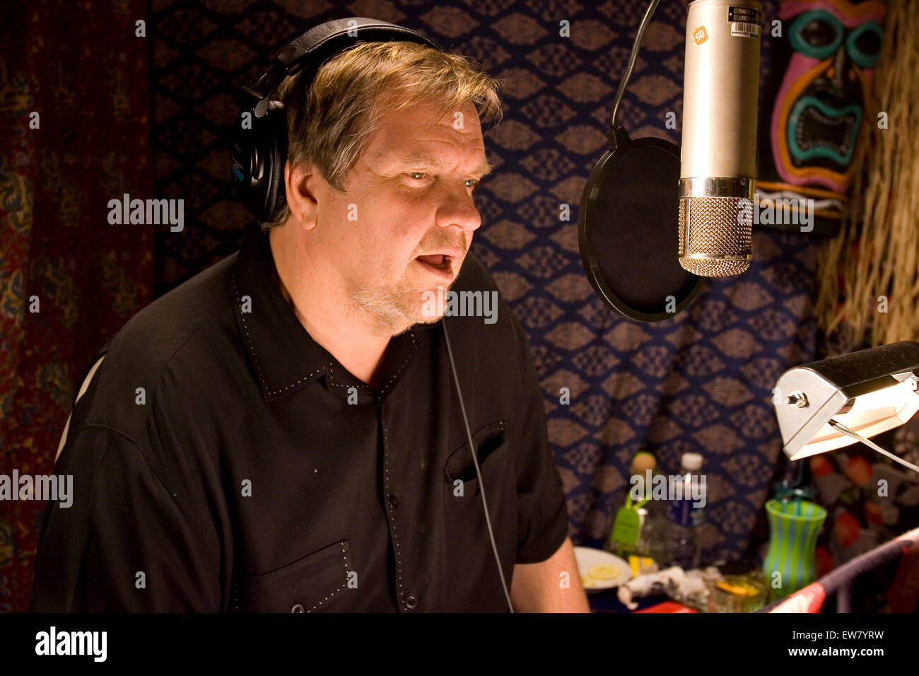 Rock musician Meatloaf recording his latest album 'Bat out of Hell III: The Monster is Loose' at The Village - Stock Image