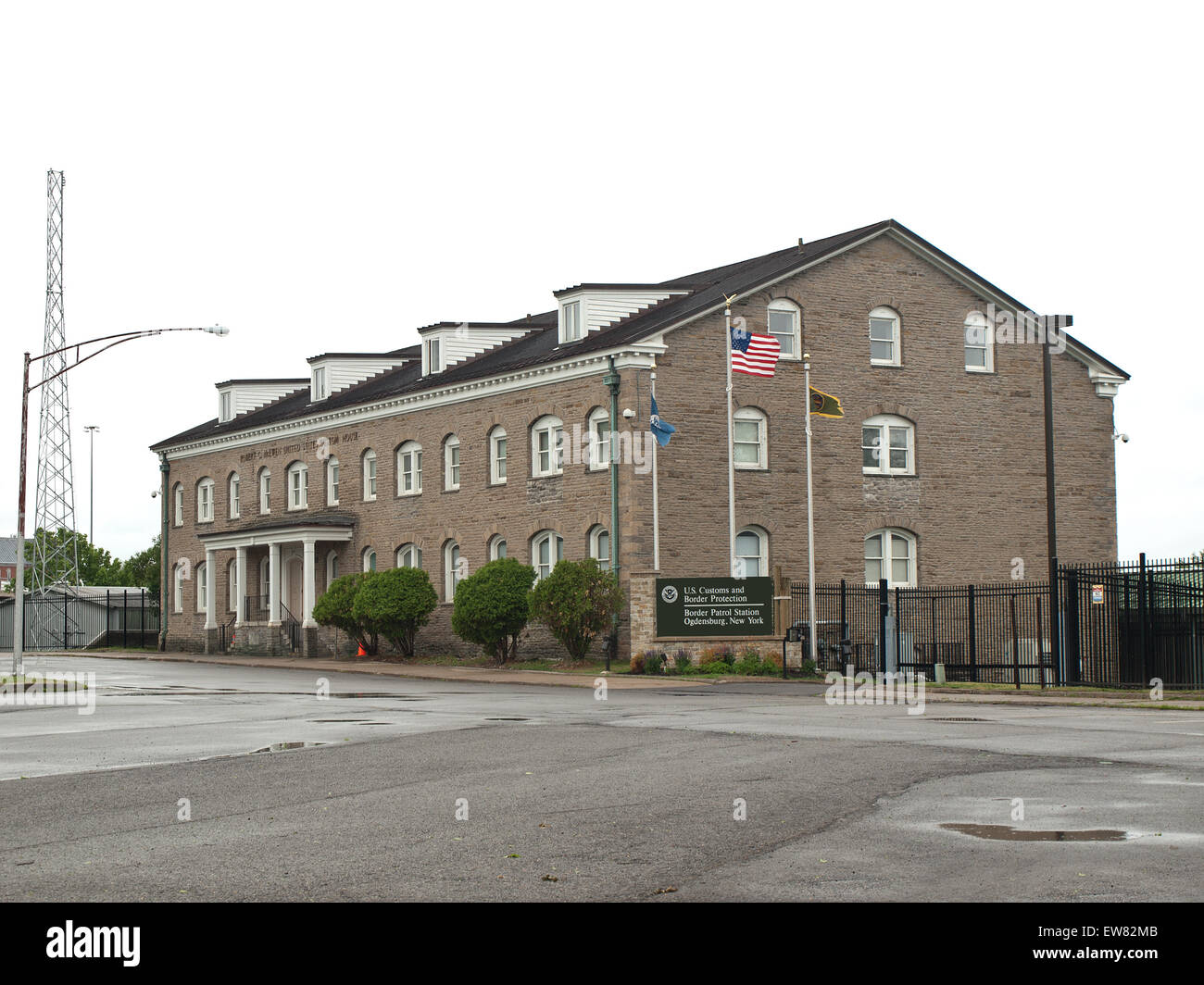 Ogdensburg, New York, USA. May 31,2015. United States Border Patrol Station located in the historic Robert C. McEwen Stock Photo