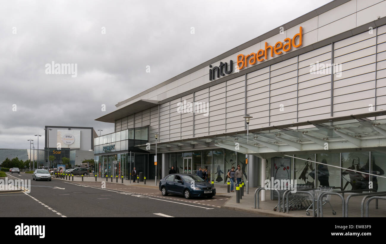 intu Braehead, Glasgow Shopping Centre and Soar at Intu Braehead entertainment hub - Stock Image