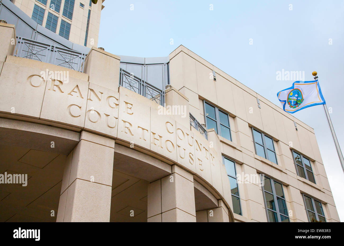Orange County Courthouse building in downtown Orlando Florida - Stock Image
