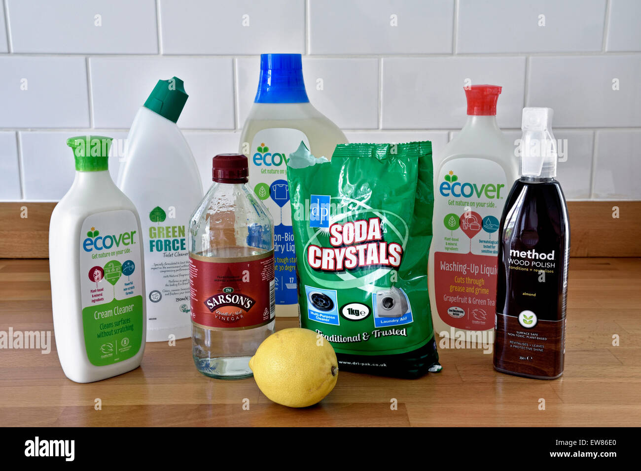 Environmentally friendly household cleaning products on ...