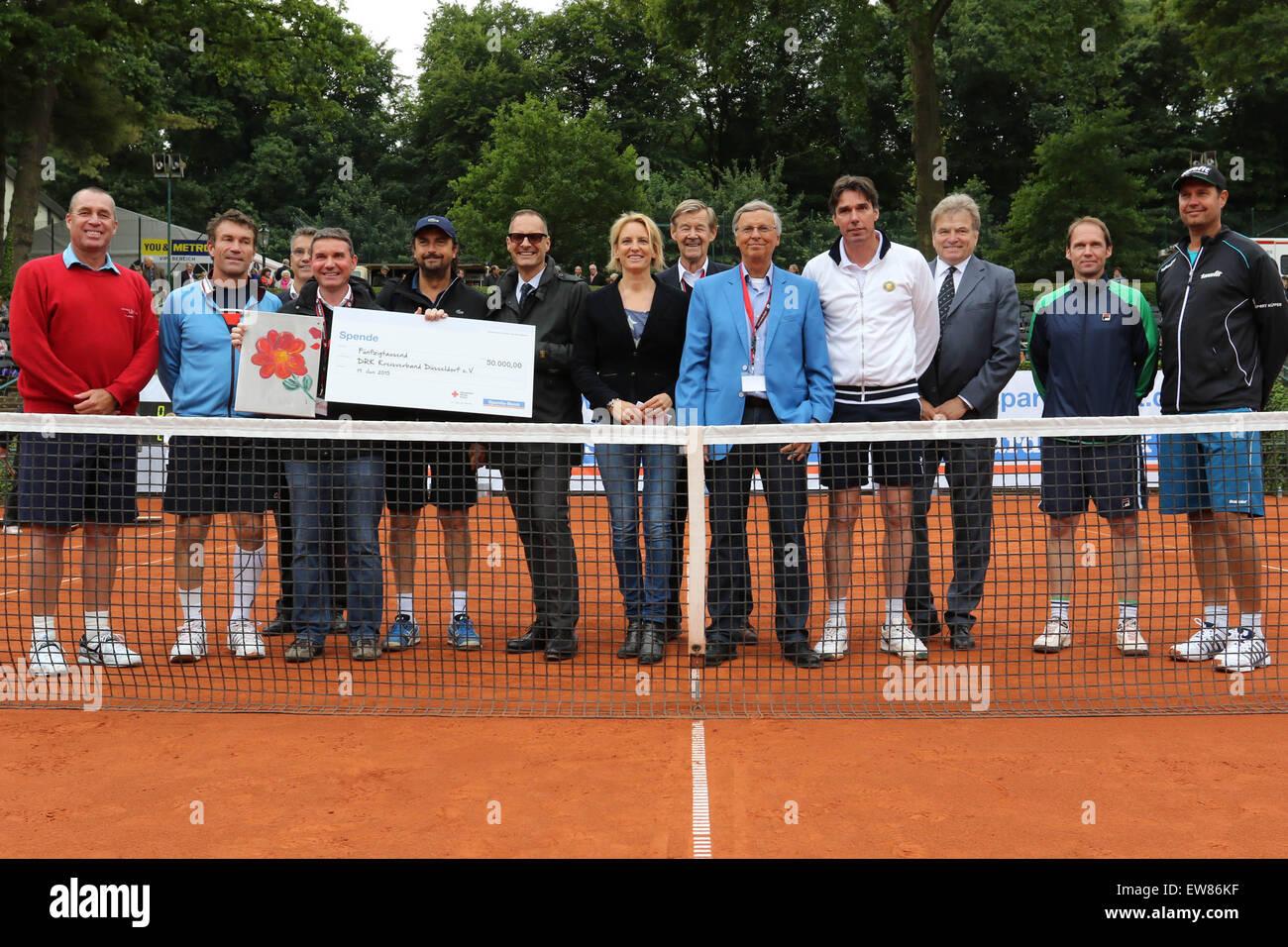 19.06.2015. Düsseldorf, Germany. DRK Charity Cup Tennis tournament. Opening Ceremony - Organisers, Sponsor - Stock Image