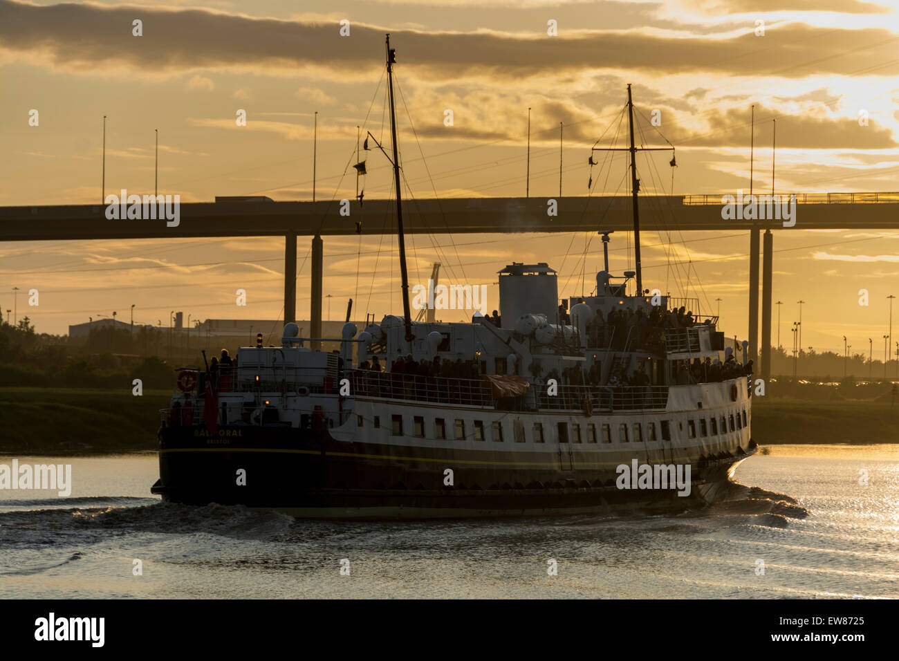 Cumberland Basin, Bristol, UK. 19th June 2015. The MV Balmoral has been out of action for 3 years, undergoing restoration - Stock Image