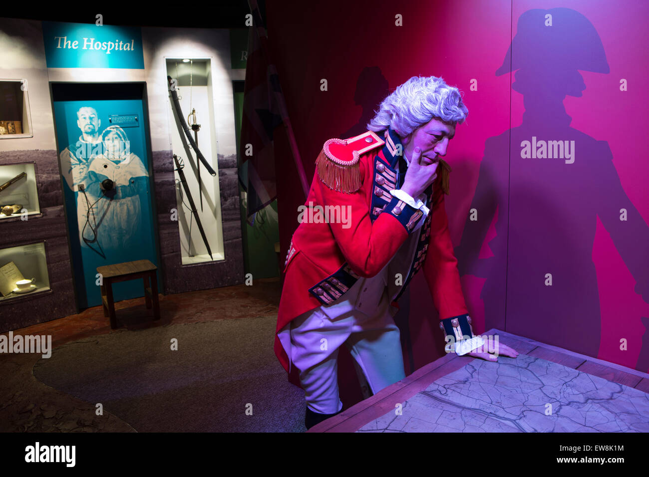 Ireland, Co Wexford, Enniscorthy, National 1798 Rebellion Centre, General Lake, sent to crush rebellion - Stock Image