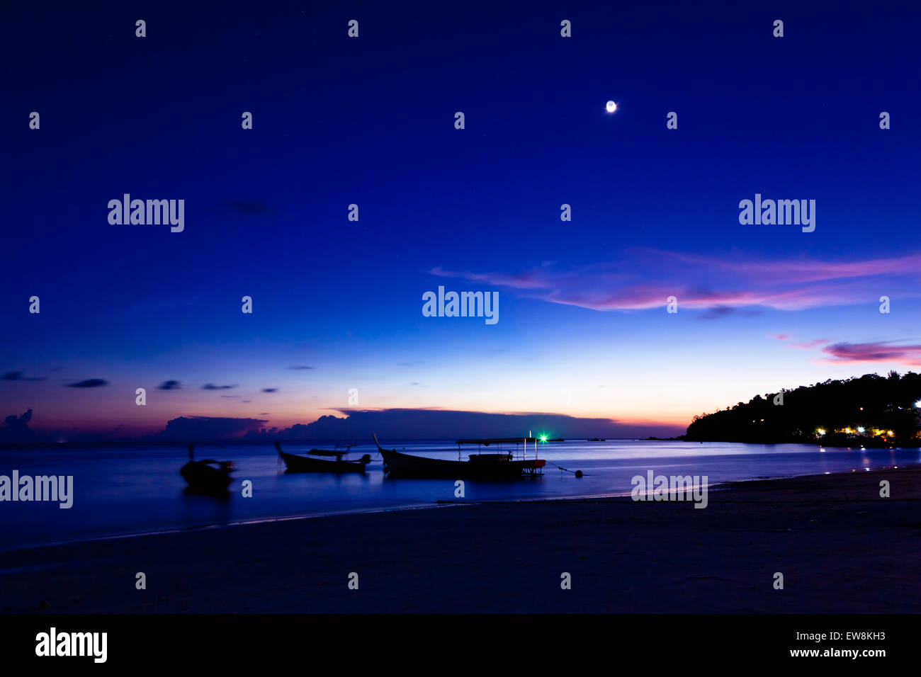 Night on the beach of Koh Lipe Island, Thailand. - Stock Image