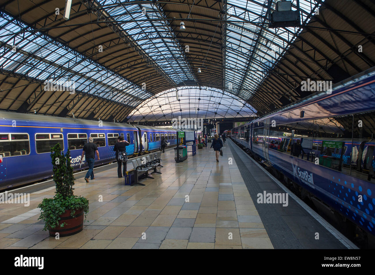 Scotrail trains at Glasgow Queen Street station - Stock Image
