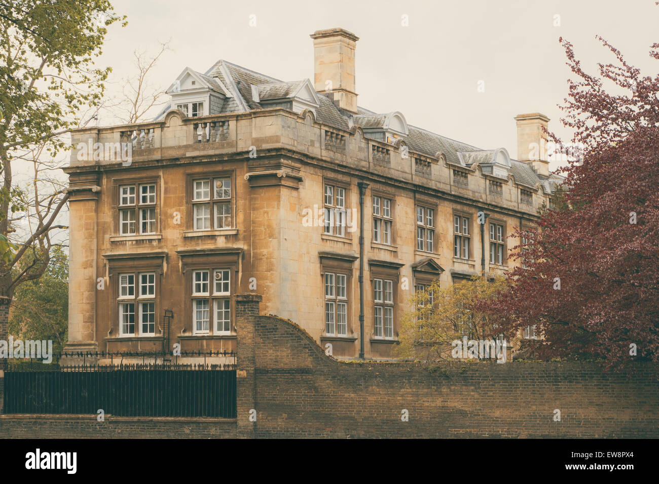Dating back to the fifteenth century, the college was founded by Lady Margaret Beaufort, mother of King Henry VIII. - Stock Image