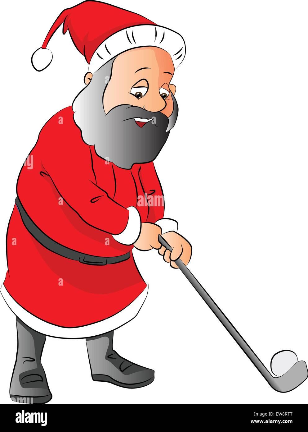 Santa Golfing Clipart | Christmas golf, Christmas stamps, Christmas bags