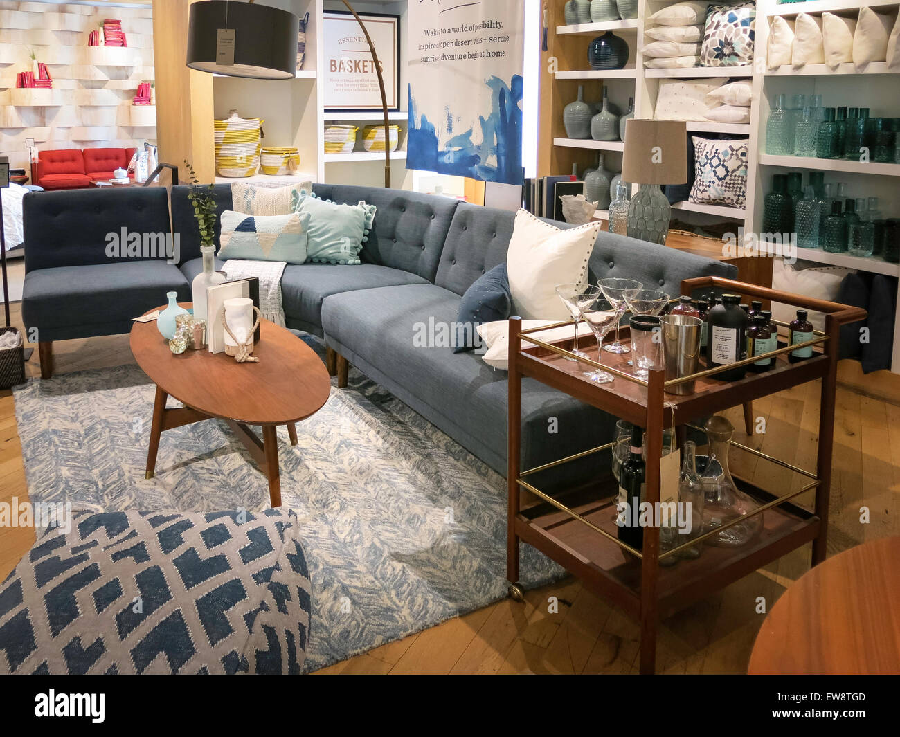 Charming West Elm Home Furnishings Store, NYC, USA