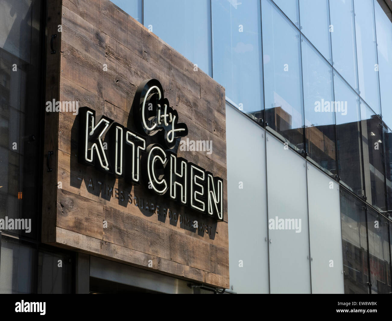 City Kitchen Food Market, Times Square, NYC Stock Photo: 84403415 ...
