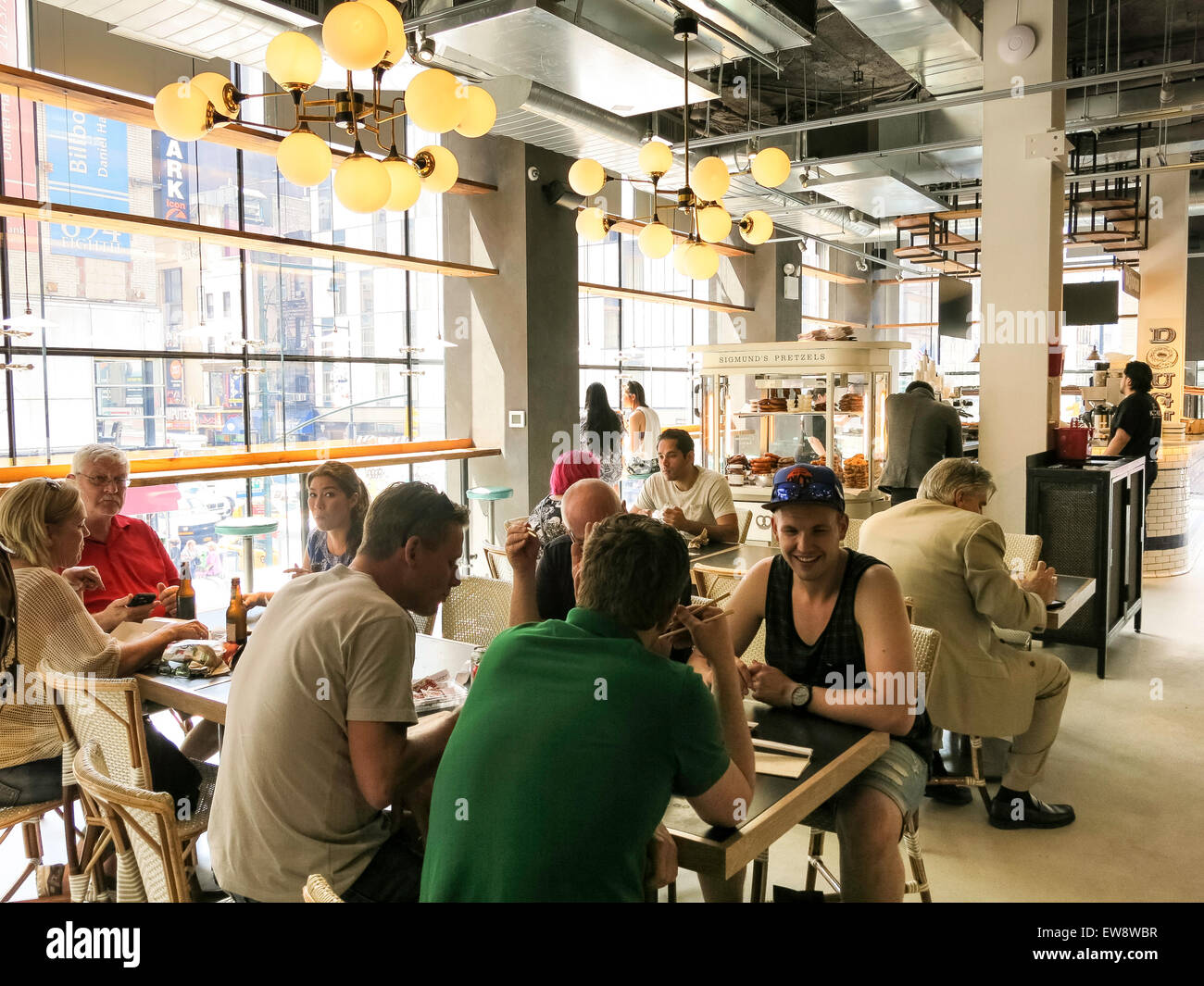 City Kitchen Food Market Times Square Nyc Stock Photo