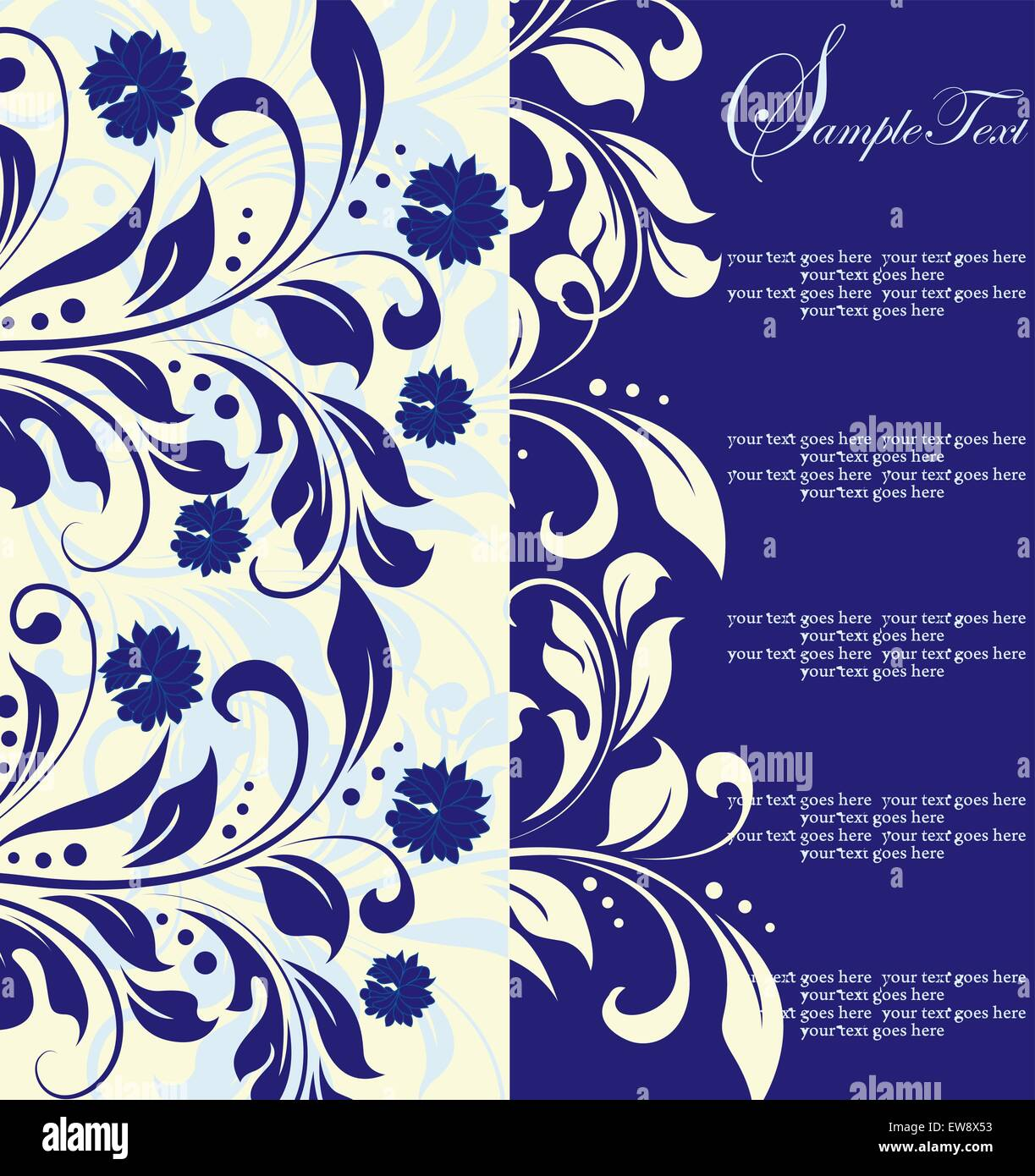 Royal Blue Flowers Stock Vector Images Page 3 Alamy