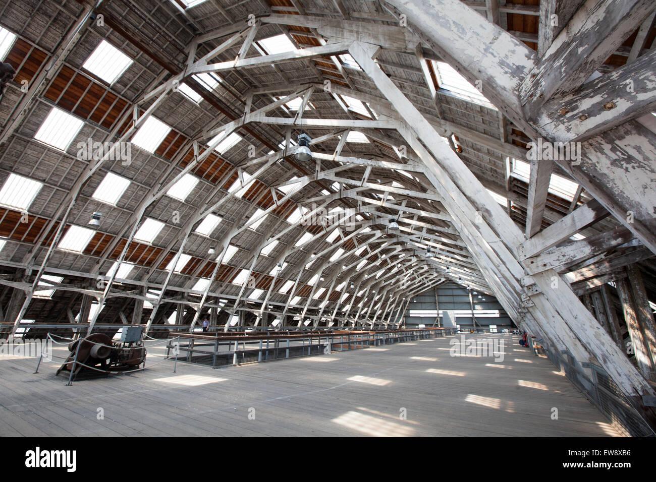 The big space Chatham historic dockyard - Stock Image