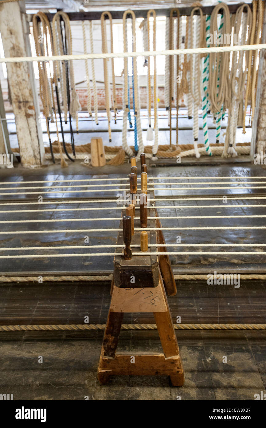 Rope at Chatham  ropery - Stock Image