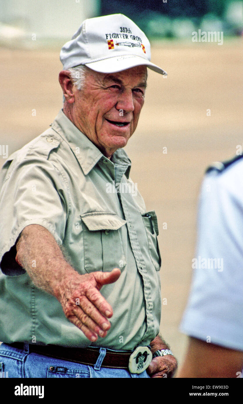 Montgomery, Alabama, USA. 30th Sep, 2013. CHUCK YEAGER at a Gathering of Eagles at Maxwell AFB, Montgomery, Alabama. - Stock Image