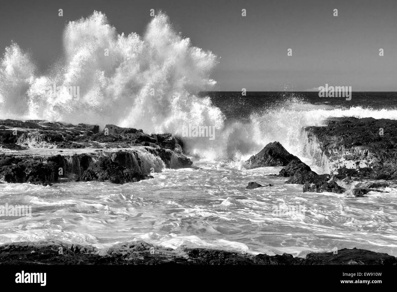 Breaking wave. Hawaii, The Big Island. - Stock Image