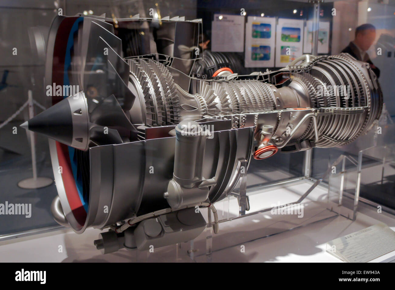 IAE V2500 engine cutaway model 2010 The Sky and Space - Stock Image