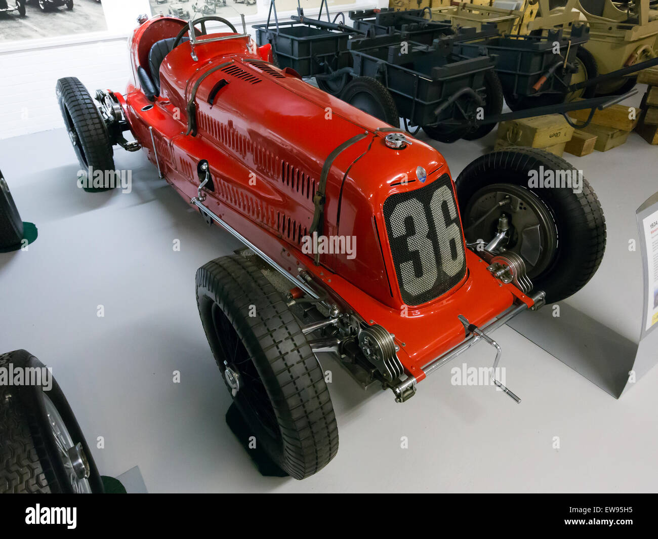 Maserati 8CM front-right Donington Grand Prix Collection - Stock Image