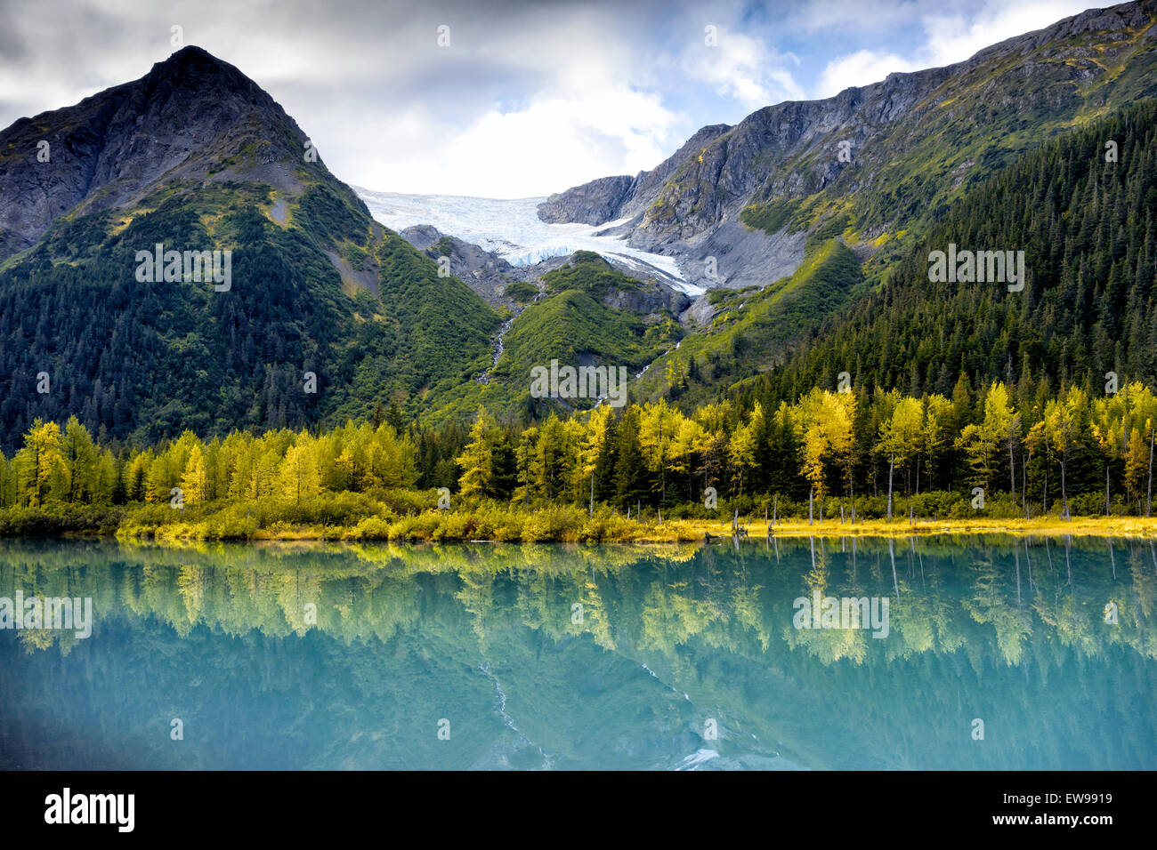 Relaxing near a Anchorage Alaska State Park - Stock Image