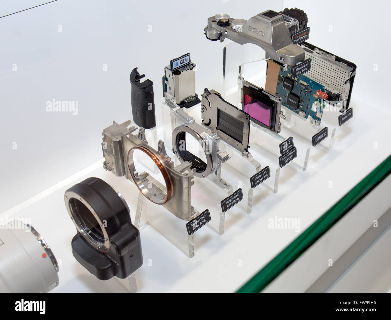 Sony Alpha ILCE-7R taken apart 2014 CP - Stock Image