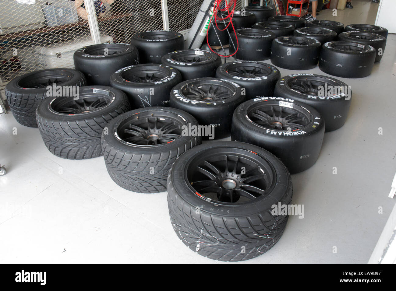 Yokohama Advan tires (GT300) 2014 Super GT Suzuka - Stock Image