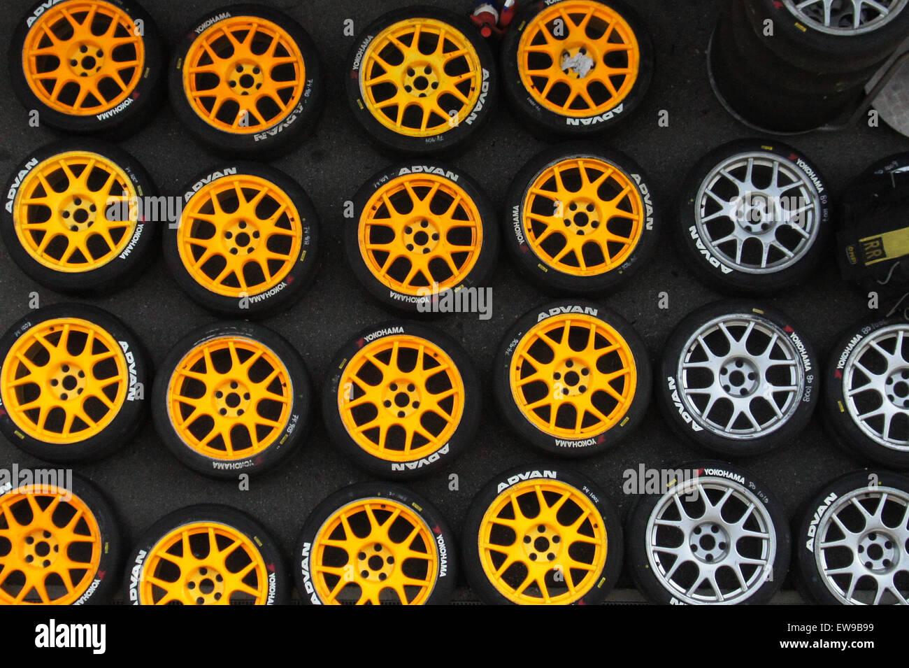 Yokohama Advan tires 2012 WTCC Race of Japan - Stock Image