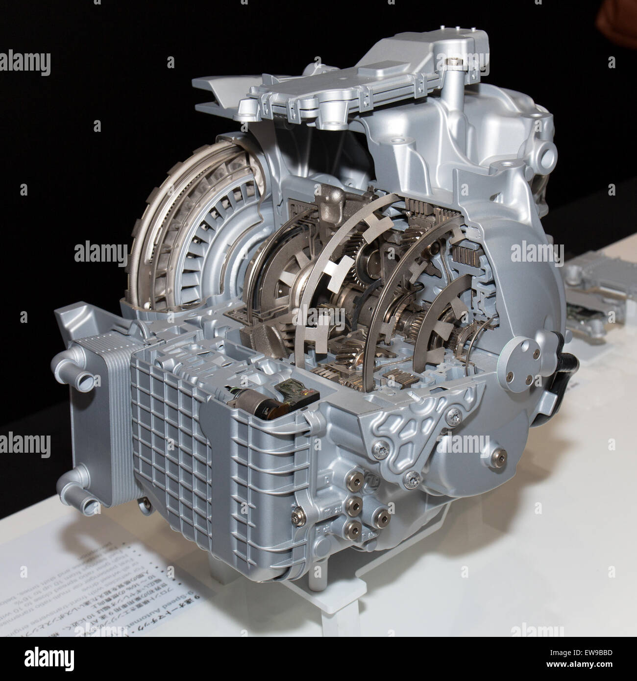 ZF 9-speed automatic transmission front-left 2013 Tokyo Motor Show - Stock Image