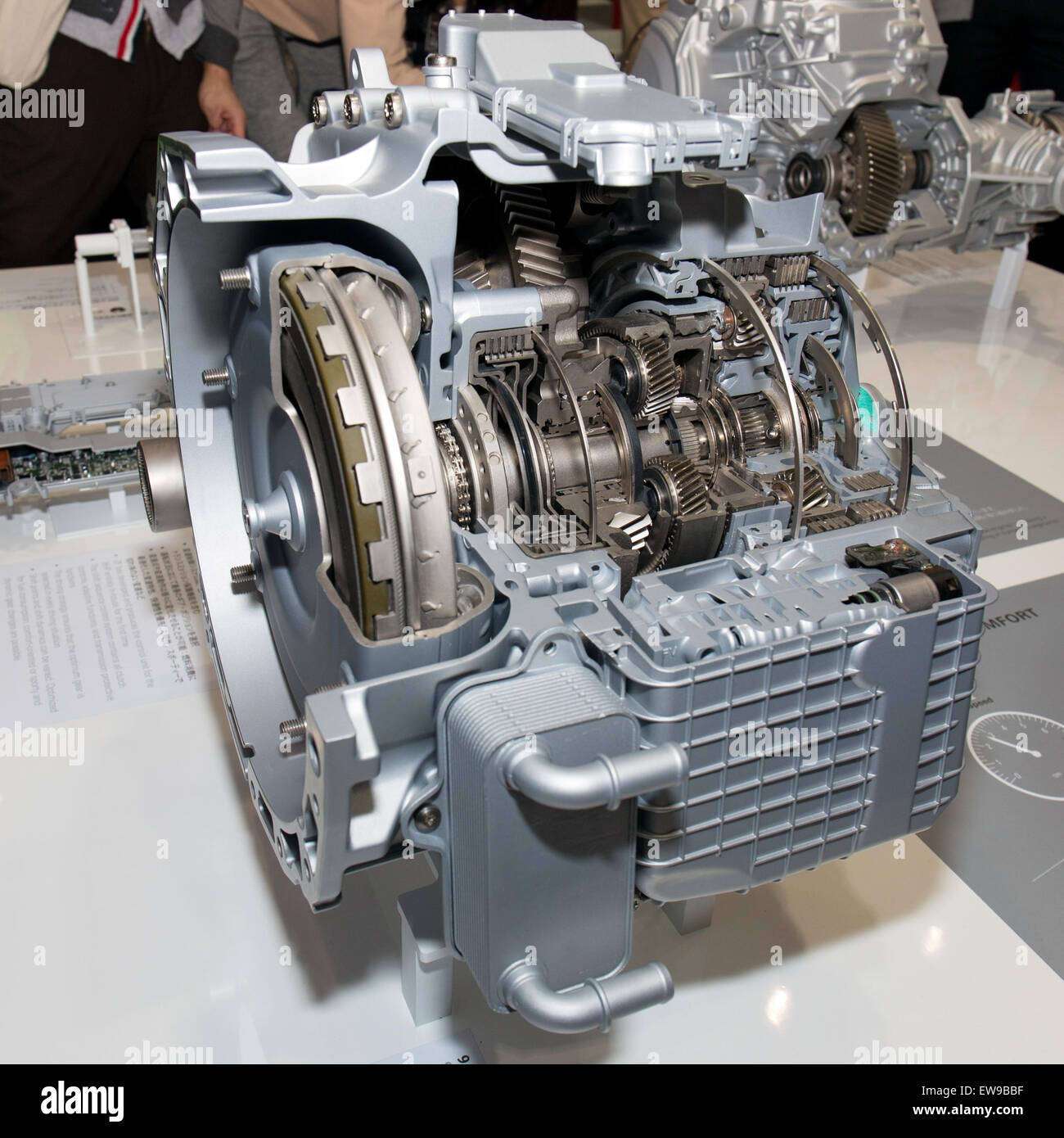 ZF 9-speed automatic transmission front-right 2013 Tokyo Motor Show - Stock Image