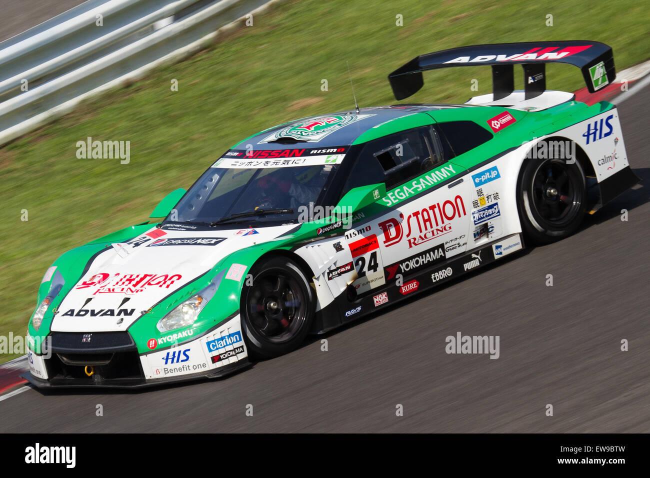 D'station Advan GT-R 2012 Super GT Sugo free practice - Stock Image