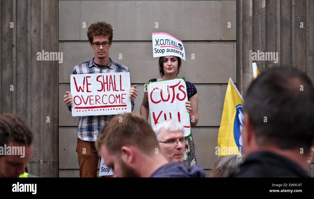 Anti Austerity Protest London - Stock Image