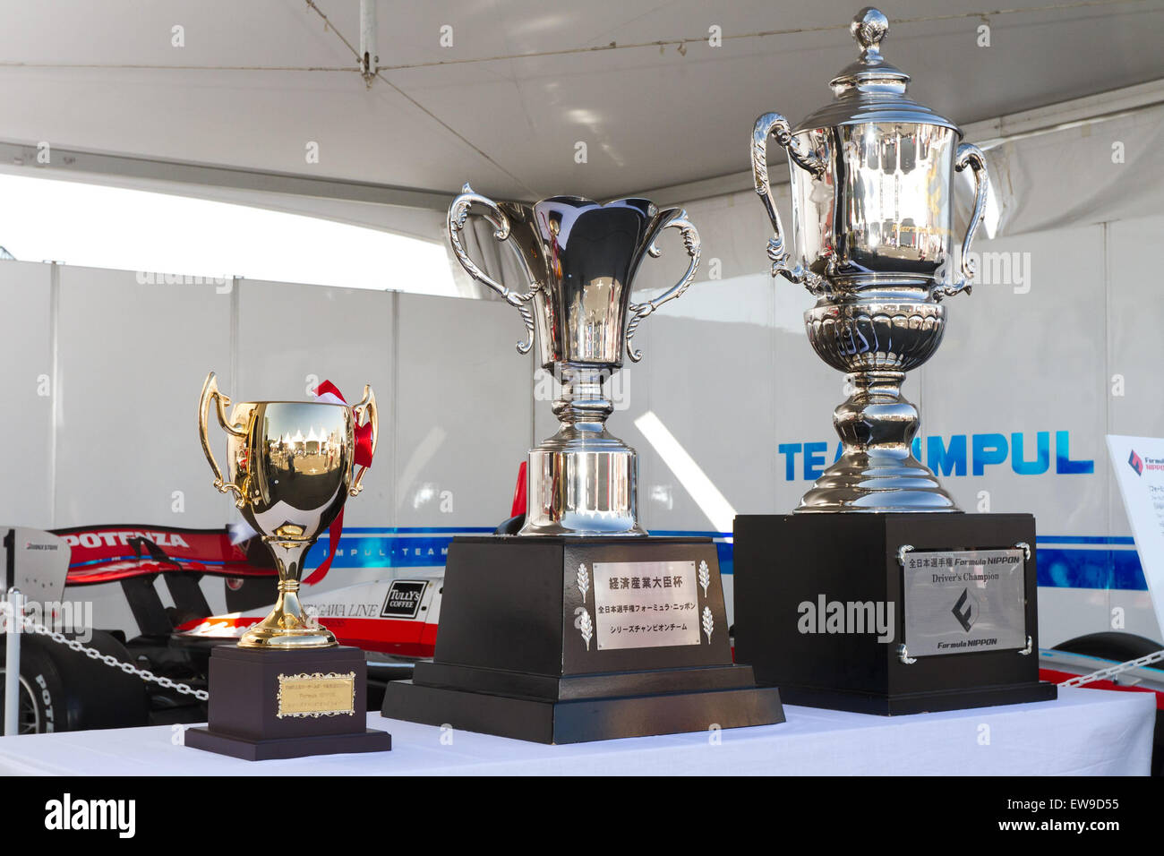 Formula Nippon trophies 2011 Motorsport Japan - Stock Image