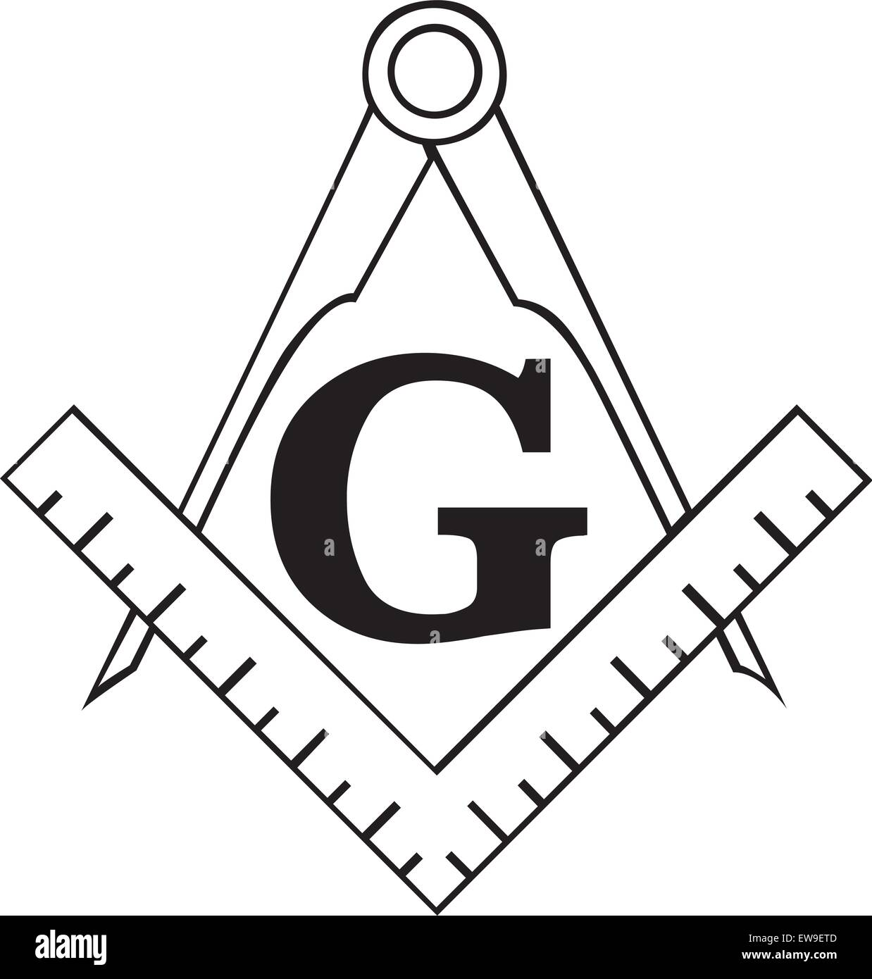 The Masonic Square And Compass Symbol Great For Tattoo Or Artwork