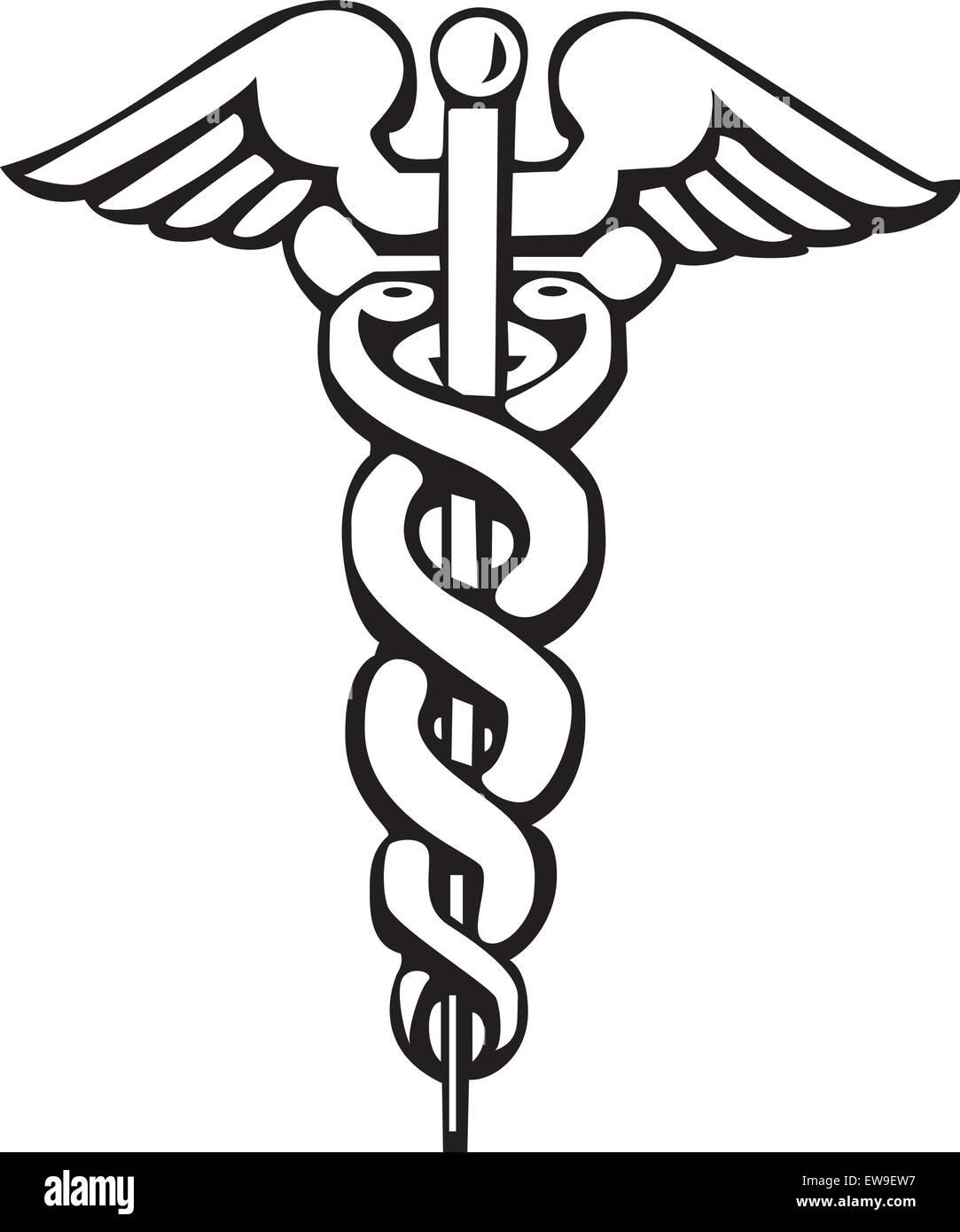 caduceus greek sign or symbol stock vector art illustration rh alamy com