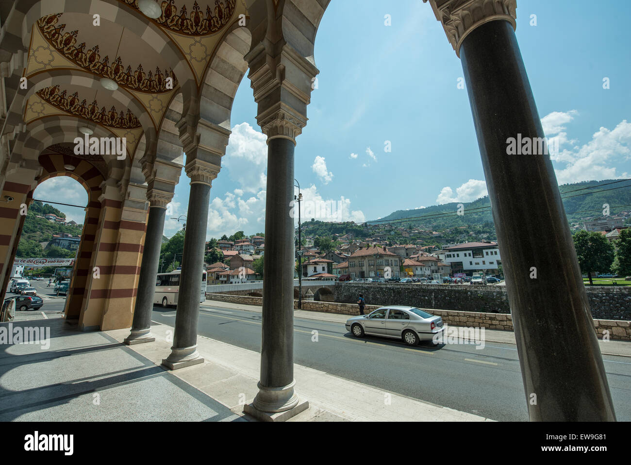 The National and University Library of Bosnia and Herzegovina in Sarajevo - Stock Image