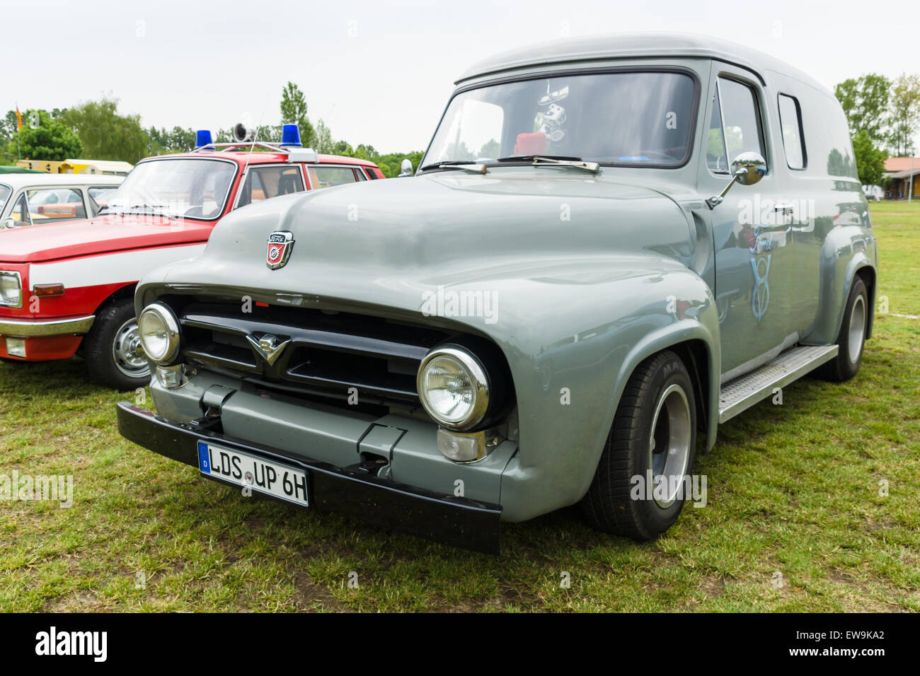 Ford F100 Stock Photos Images Alamy 1948 Panel Truck Paaren Im Glien Germany May 23 2015 Full Size Pickup