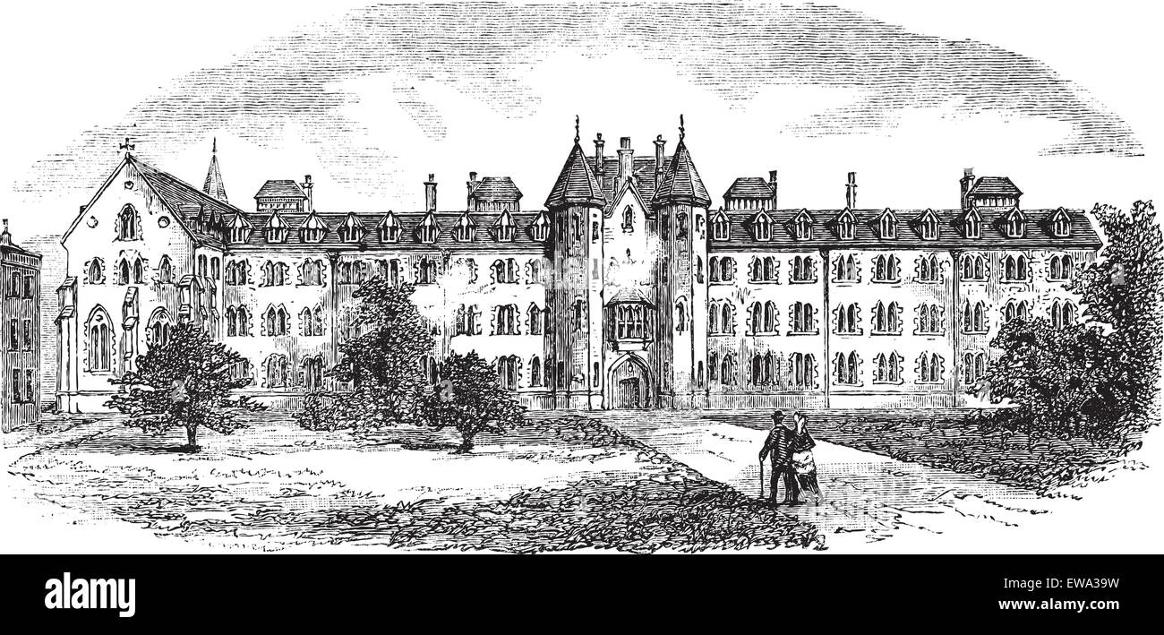 St Patrick's College or Maynooth College or Royal College of St. Patrick Maynooth in Ireland, during the 1890s, - Stock Image