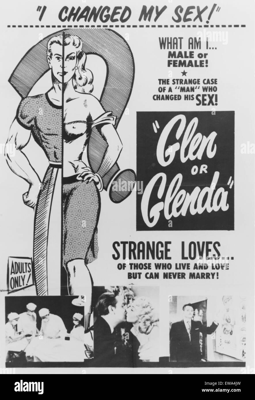 GLEN OR GLENDA (1953) - directed by Ed Wood. Courtesy Granamour Weems Collection.  Editorial use only.  Licensee - Stock Image