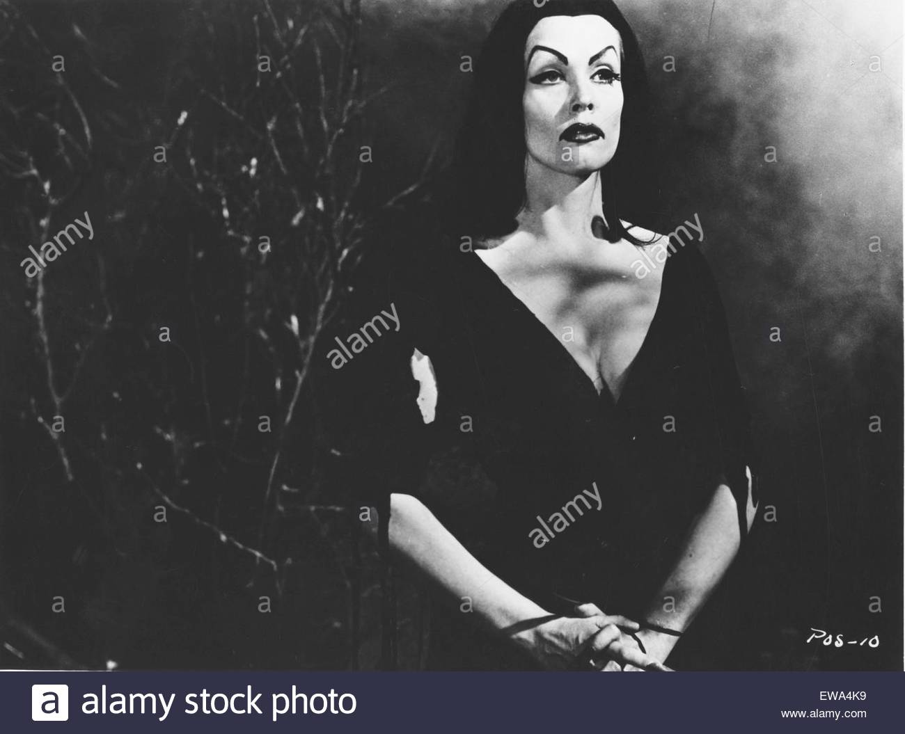 PLAN 9 FROM OUTERS SPACE (1959) - directed by Ed Wood.  Pictured:  Vampire (Maila Nurmi). Courtesy Granamour Weems - Stock Image