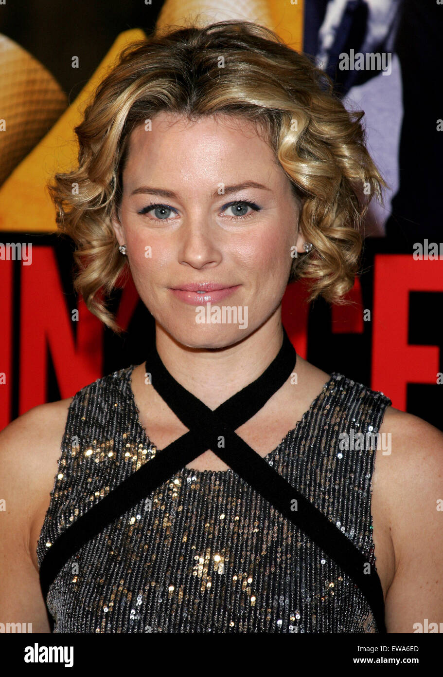 Elizabeth Banks attends the World Premiere of 'Smokin' Aces' held at the Grauman's Chinese Theater - Stock Image